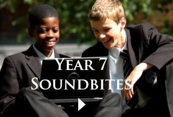 Year 7 soundbites