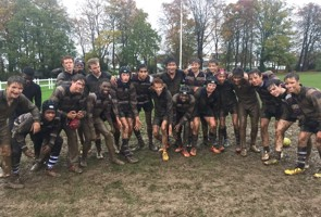 Rugby training in the rain